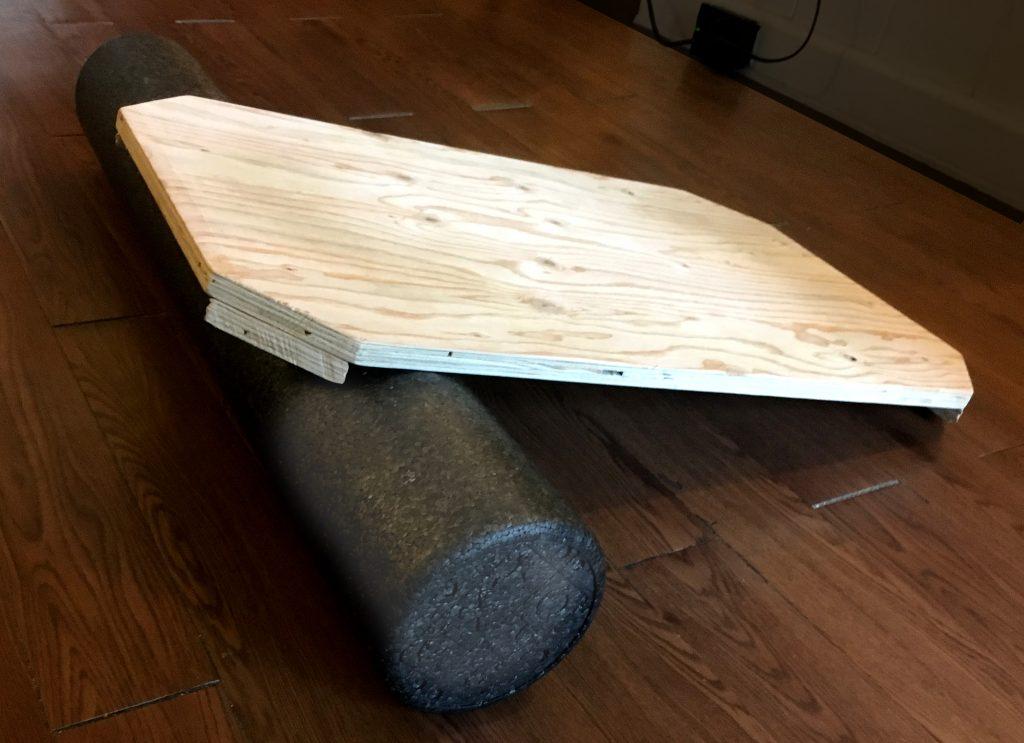 diy indo board plus foam roller